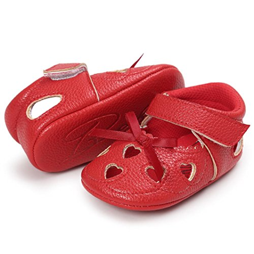 Baby Schuhe, Switchali Baby Mädchen Höhle aus Sandalen Schuh Casual Schuhe Sneaker Anti-Rutsch Soft Schuhe Rot