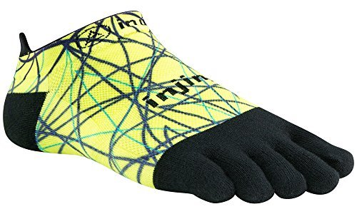 Injinji Performance 2.0 Run Original weight No-Show CoolMax XtraLife Toe Socks -LIME-small -