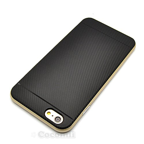 iPhone 6S / 6 Hülle, Cocomii Demon Armor NEW [Heavy Duty] Premium Carbon Fiber Slim Fit Shockproof Hard Bumper Shell [Military Defender] Full Body Dual Layer Rugged Cover Case Schutzhülle Apple (Gold) Gold