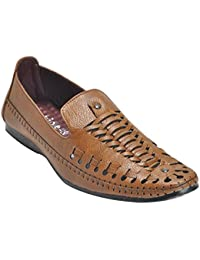 Kolapuri Centre Tan Color Casual Slip On Sandal For Men's