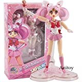 Yvonnezhang SHFigarts Action Figure Sailor Moon Anime Cute Carton Faccia Intercambiabile Chibiusa Sailor Moon Figure Girls Toys 15-23cm, KT5044 con Scatola