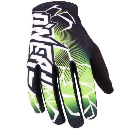 O'Neal Matrix Handschuhe Schwarz Grün Moto Cross Mountain Bike Enduro DH FR MTB MX, 0475-11, Größe X-Large