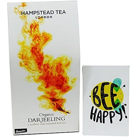 Hampstead Tea - Thè Nero Darjeeling dal Makaibari - in Foglia da Agricoltura Biodinamica Certificato Demeter- 100 gr - - Biodinamica Tè Verde
