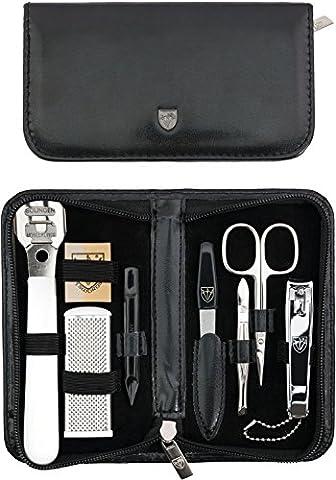 TROIS EPÉES | Kit / set / ensemble / trousse de manicure - manucure - pédicure - beauty / beaute - soins des ongles / personnels / mains / pieds | 8 pièces | marque de qualitè (523716)