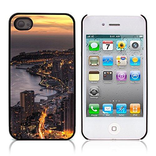 Graphic4You Monaco Postkarte Ansichtskarte Design Harte Hülle Case Tasche Schutzhülle für Apple iPhone 4 und 4S Design #15