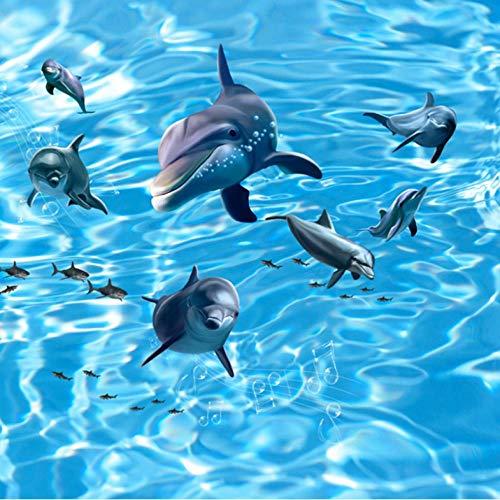 3D Fototapete Rolling Waves Dolphin Hohe Qualität Großes Wandbild Kinderzimmer Tapeten Sofa Hintergrund Wohnkultur-280X200CM -