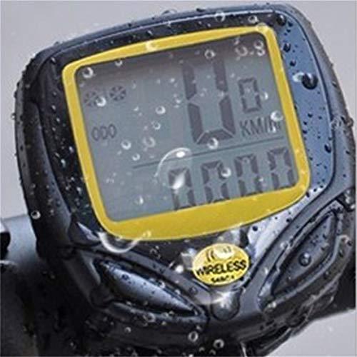 Delicacydex Wasserdichtes drahtloses Plastikfahrrad, Das Sport-Fahrrad-Computer-Geschwindigkeitsmesser-Kilometerzähler mit LCD-Anzeige radfährt - 2