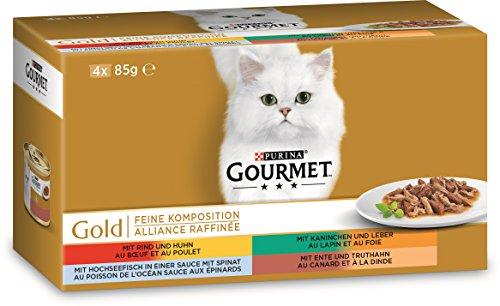 Gourmet Gold Feine Komposition Katzenfutter, 48 x 85 g
