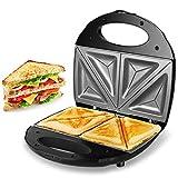 Kuyal Sandwich Toaster Maker, Panini Sandwich Press Waffle Machine with Nonstick Plates, 2-Slice