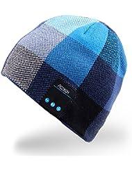 Rotibox drahtlose Bluetooth Beanie Hat-Kopfhörer-Kopfhörer Musik Audio Kappe für Frauen Männer mit Lautsprecher und Mikrofon Freihändige Outdoor Sports, kompatibel mit iPhone 6s / 6 plus, Samsung, Bestes Weihnachts-Geschenke - Blau