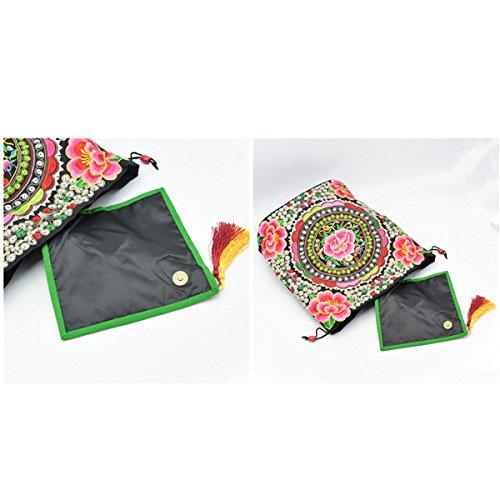 Damemädchensegeltuch-Rucksack Gedruckt Ethnic Schule Shouldre Tasche Reisetasche Multicolor 09