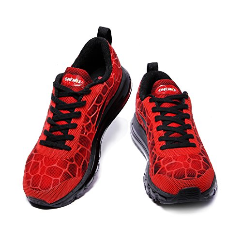 Onemix Mens Scarpe Da Corsa Sneakers Cuscino Daria Sneakers Easy Sneaker Di Buona Qualità Nero Rosso Verde Blu Rosso / Nero