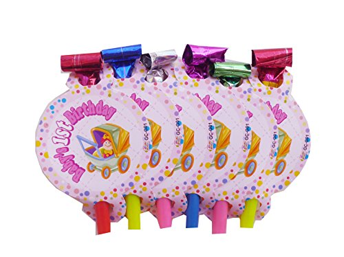 Party-Anthem 1st birthday Girl party blowouts (pack of 12 pieces)