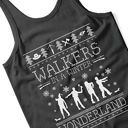 Walkers In A Winter Wonderland Christmas Knit Women's Vest Black