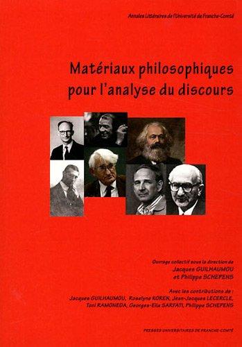 Materiaux Philosophiques pour l'Analyse du Discours