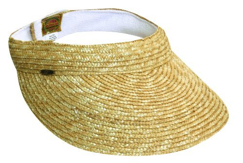 dorfman-pacific-ladies-scala-braided-straw-visors-cream