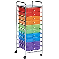 VonHaus 10 Drawer Ombre Mobile Storage Trolley for Home, Office & Salon