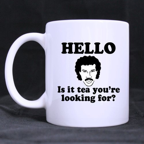 Top Funny Hello is IT Tea You're Looking for Theme Coffee Mug or Tea Cup,Ceramic Material Mugs,White - 11oz -