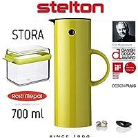 Stelton Isolierkanne 1 L lime + Rosti Mepal Kaffeedose Stora Lime - 979+106702091200