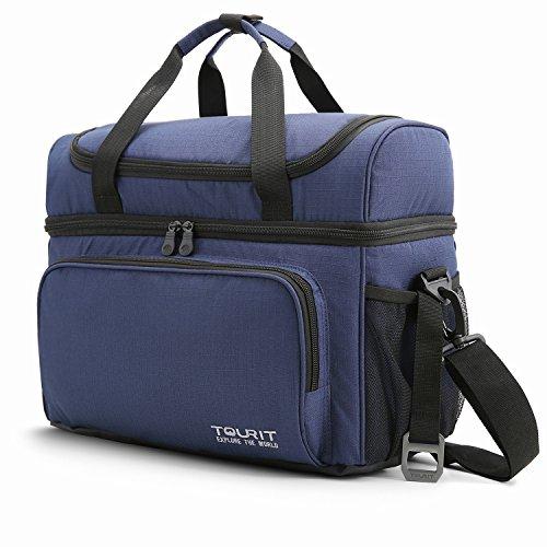Tourit borsa termica 22l borsa frigo porta pranzo grande capacità borsa frigo pranzo ufficio campingaz 38l x 27w x 21h cm blu scuro