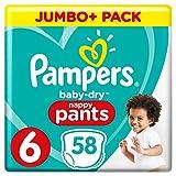 Pampers Baby-Dry Pants (Gr. 6 (ab 15 kg), Windeln mit Luftkanälen) 1er Pack (58 Stück)