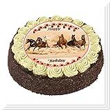 CS-Dekor Tortenaufleger Pferde 027