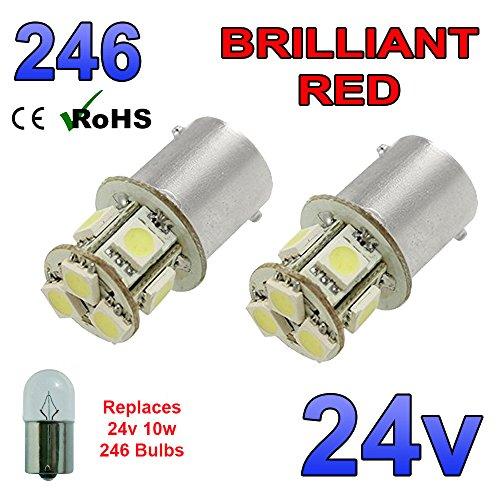 2-x-rojo-24-v-led-ba15s-246-r10-w-8-smd-unico-numero-de-contacto-placa-interior-bombillas-camion