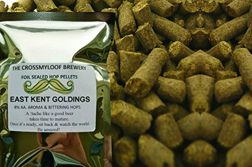100g of E.K Goldings Hop Pellets. 6% AA - 2017. Cold Stored CO2 Flushed for Freshness (Liberty-mail Post)