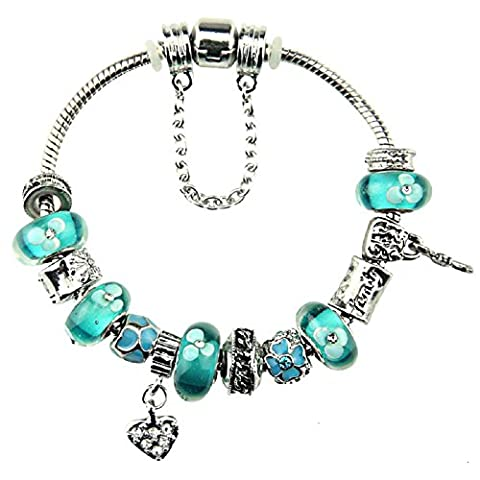 White Birch Charm Bracelets with Charms for Pandora Bracelets for Women Jewellery Birthday Gifts Ideas 20cm