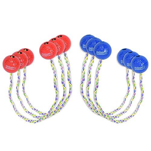 GoSports Ladder Toss Bolo Ersatz-Set - kindersicherer, weicher Gummi oder Harte Golfbälle, wählen Sie Ihren Stil (Ladder Ball Spiel)