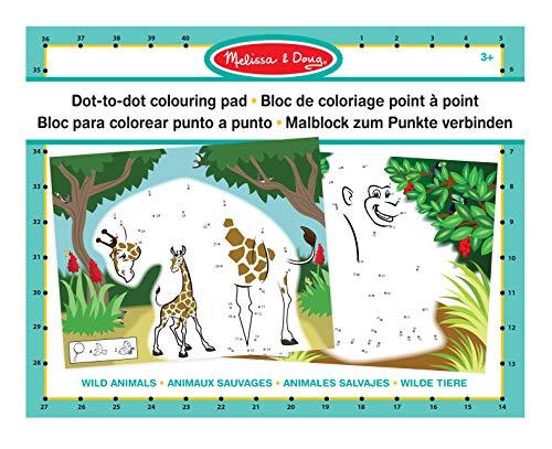 ▷ Melissa & Doug to Dot Colouring Pad-Wild Animals (19104 ...