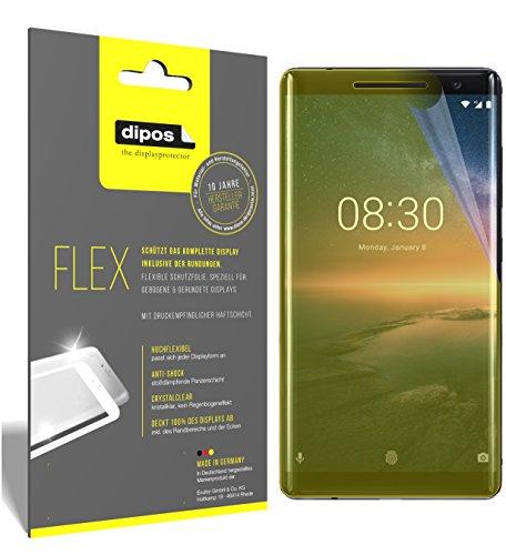 dipos I 3X Schutzfolie 100prozent passend für Nokia 8 Sirocco Folie (Vollständige Bildschirmabdeckung) Bildschirmschutzfolie