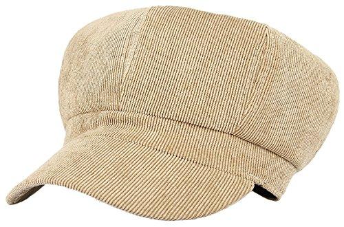 Lukis Women Corduroy 8 Panel Newsboy Baker Boy Cap Peaked Beret Hat