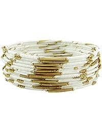 27afa775d2c0 Banithani dorado i hilo de seda pulseras envueltos regalo de joyería de  moda para las mujeres