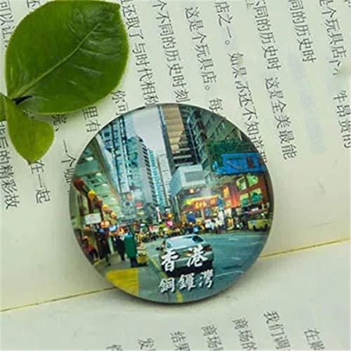 Causeway Bay Hong Kong China Kühlschrank Kühlschrankmagnet Stadt Welt Kristall Glas Handgemachte Tourist Travel Souvenir Sammlung Starke Wort Brief Aufkleber Kinder -