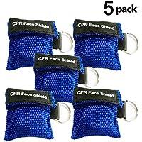 VADOOLL 5 Stücke CPR Maske mit Karabinerhaken CPR Mask RESPI-Key Beatmungsmaske Schlüsselanhänger Beatmungshilfe... preisvergleich bei billige-tabletten.eu