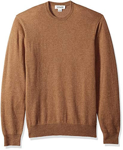 Williams Cashmere Herren 100% Cashmere Crew Neck Sweater Pullover, Camel, Mittel -
