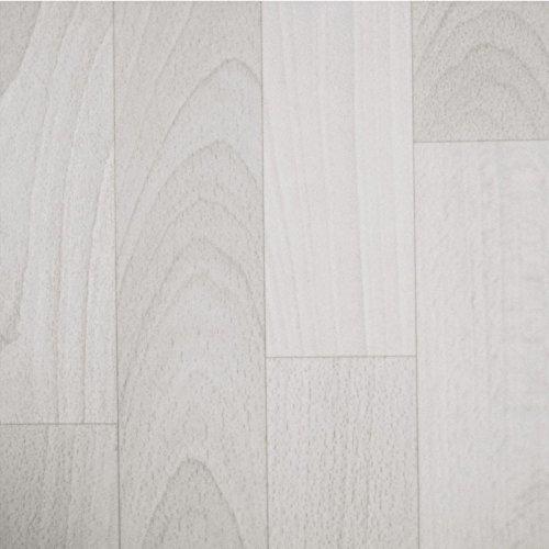 PVC Bodenbelag Holz Planken Weiss Gekalkt (11,90 € p. m²) (Muster DIN A4) -