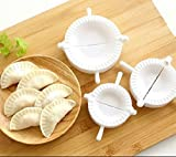 MTSZZF 3pcs Prensa Raviolis Masa Pasteler?a Pie Dumpling Fabricante Gyoza Empanada Molde Herramienta de Molde
