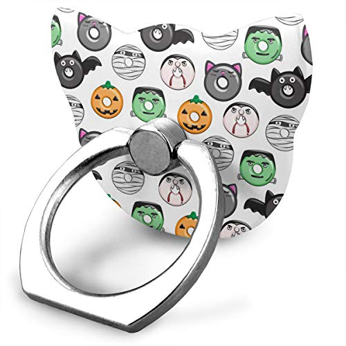 t Medley White Pumpkin Frankenstein Phone Ring Stand Holder,Personalized Custom Finger Ring Mount Phone Holder for Phone and Other Smartphone and Tablet ()