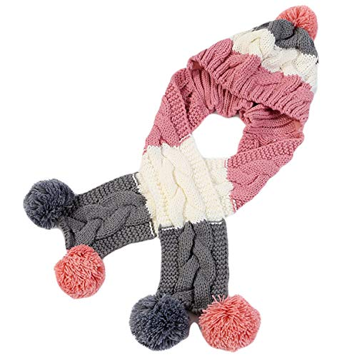 Damen Wintermützen Schals mit Pom Pom Knitted Warm Girls Fashion Casual Mützen