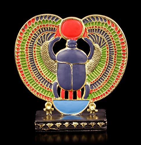 Ägyptische Figur - Zinn Skarabäus | Deko-Figur, handbemalt