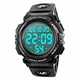 Randon uomo militare impermeabile elettronico orologio sportivo elastico 24h tempo LED 50 m impermeabile calendario Day date orologi nero