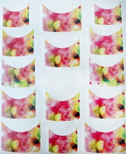 Nail art manucure stickers ongles scrapbooking: 14 décalcomanies motifs fleurs