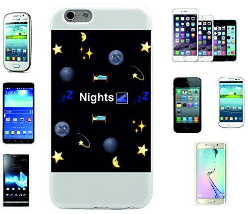 """Smartphone Case Apple IPhone 5/ 5S/ SE """"Nights Emojis Mond Bett Sterne Weltraum und Träume"""", der wohl schönste Smartphone Schutz aller Zeiten."""
