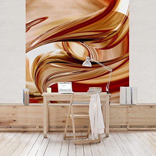 Apalis Vliestapete Mandalay Fototapete Quadrat | Vlies Tapete Wandtapete Wandbild Foto 3D Fototapete für Schlafzimmer Wohnzimmer Küche | Größe: 288x288 cm, rot, 97824 -