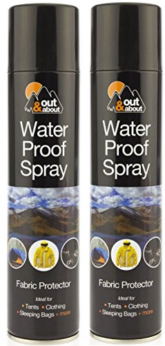 Price comparison product image 2 x Waterproof Spray Ideal For Tent Sleeping Bags,  Rucksacks,  Shoes,  Boots & Umbrellas Outing Fishing Camping Fabric Protector 300ml