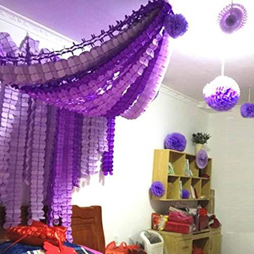 Party Dekoration Kit 6pcs hängenden Garland vierblättriges Tissue-Papier Blume Garland wiederverwendbare Partei Luftschlangen für Hochzeit Kindergarten Bridal Shower (3.6M lang jeder)/Satz von 6