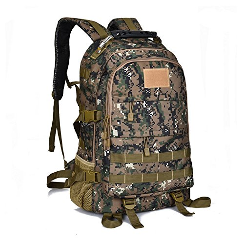 dushow groß Tactical Rucksack Sport Outdoor Military Rucksack Wandern Camping Rucksack/Rucksack Gepäck Tasche Digital