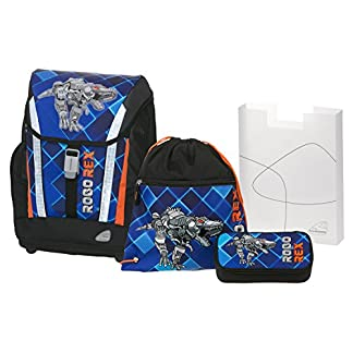 Angry Birds School Backpack Set 4/1 Soft Robo Rex 78303 Mochila Infantil 40 Centimeters 24 (Blue and Black)
